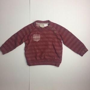 [3/$20] Zara Baby Boy Dark Red Henley Sweater